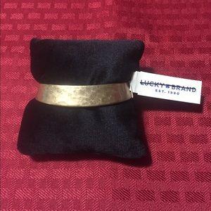 NWT Lucky Brand textured hammer cuff bracelet